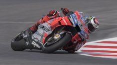 Lorenzo, en una curva del Circuito de Misano (Getty).