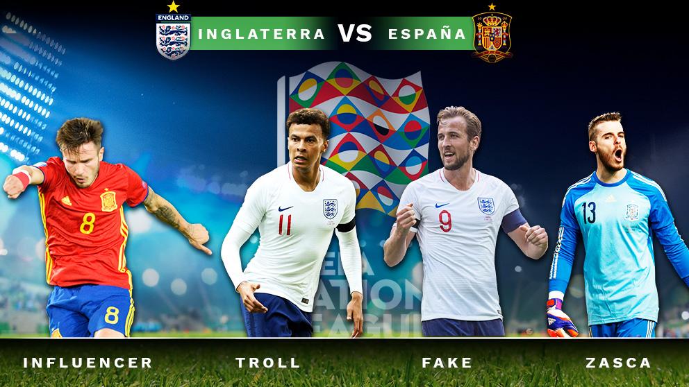Los trending topics del Inglaterra – España de la Liga de Naciones.