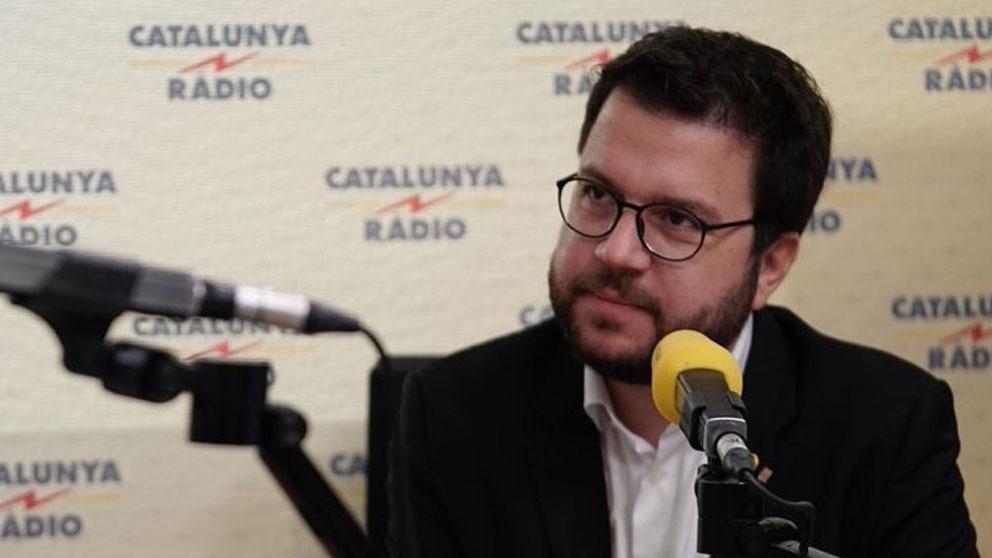 El vicepresidente de la Generalitat y adjunto a la Presidencia de ERC, Pere Aragonès. Foto: Europa Press