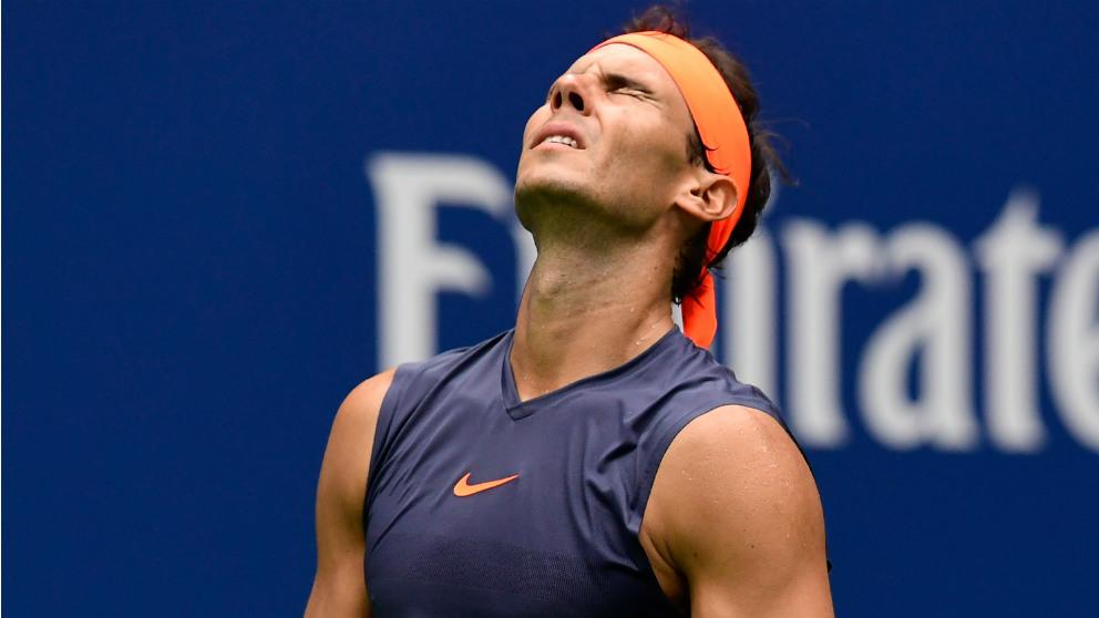 Rafa Nadal durante las semifinales del US Open. (Getty)