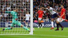 De Gea salva el remate de Rashford en el Inglaterra-España. (Getty)