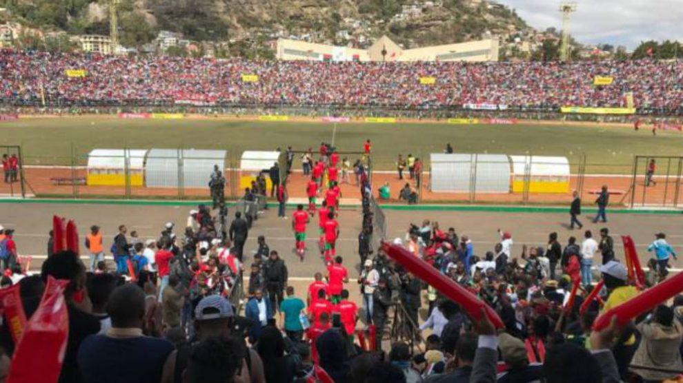 Estadio de fútbol en Madagascar.