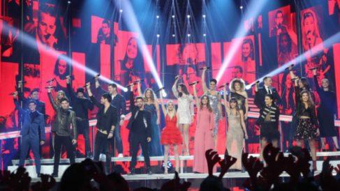 Los concursantes de 'Operación Triunfo' durante una actuación.