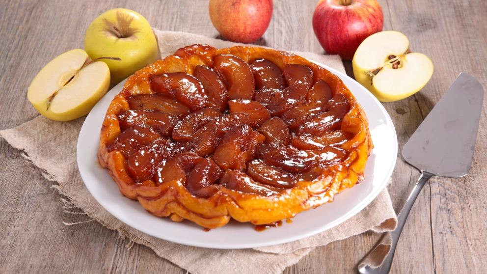 Receta de torta invertida de manzana