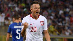 Zielinski celebra su gol ante Italia el pasado viernes (Getty).