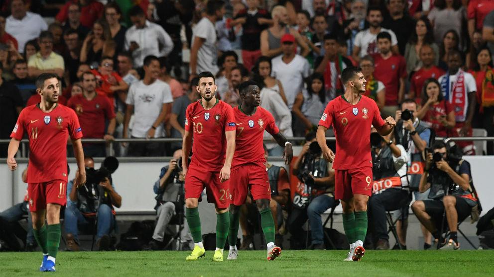 André Silva celebra su gol en el Portugal – Italia. (AFP)