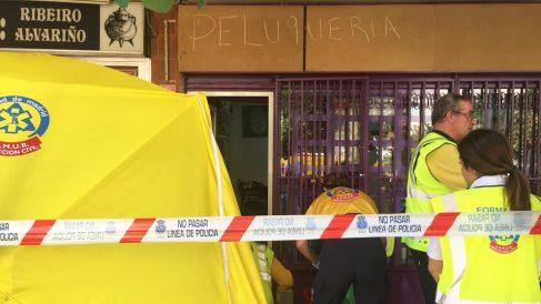 Lugar del apuñalamiento mortal en Villaverde. (Foto: Emergencias Madrid)