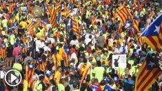Manifestación separatista convocada por la ANC con motivo de la última Diada de Cataluña (Foto: Efe)
