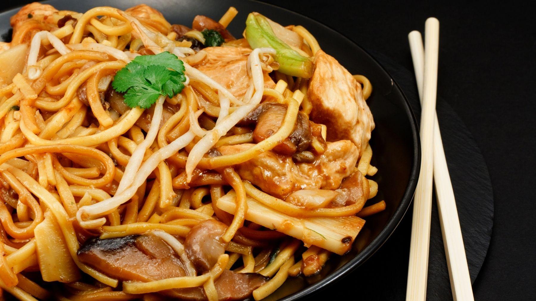 Receta de chow mein de verduras