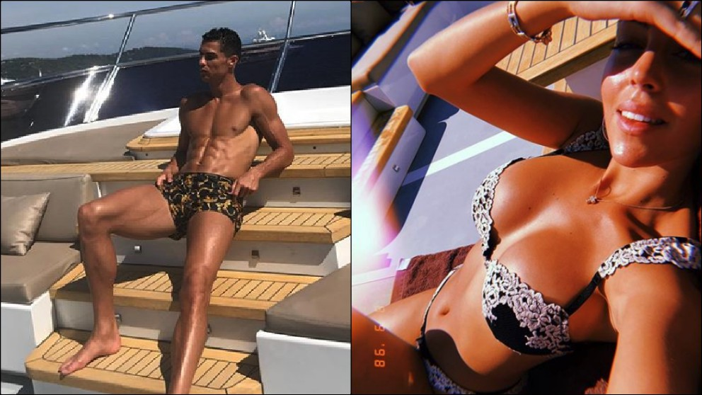 Cristiano Ronaldo y Georgina disfrutando de sus vacaciones el pasado verano.