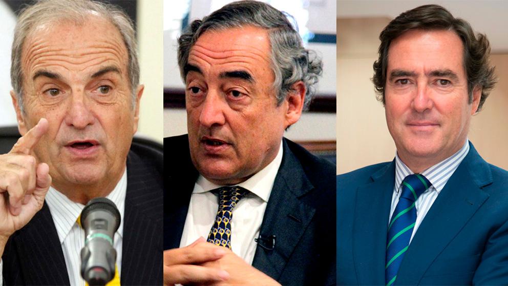 Joaquim Gay de Montellà, Juan Rosell y Antonio Garamendi