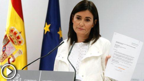 La ministra de Sanidad, Consumo y Bienestar Social, Carmen Montón, ha negado hoy irregularidades en la obtención de su máster sobre estudios de género (Foto: Efe)