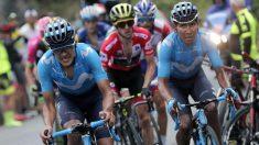 Nairo Quintana, en la etapa de los Lagos de la Vuelta a España. (EFE)