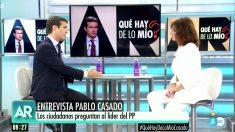Pablo Casado, presidente del PP, en 'El programa de Ana Rosa'.