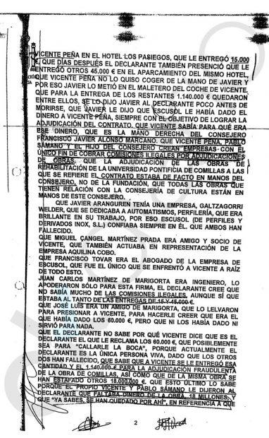 Declaración del edil de Castro Urdiales ante el juez