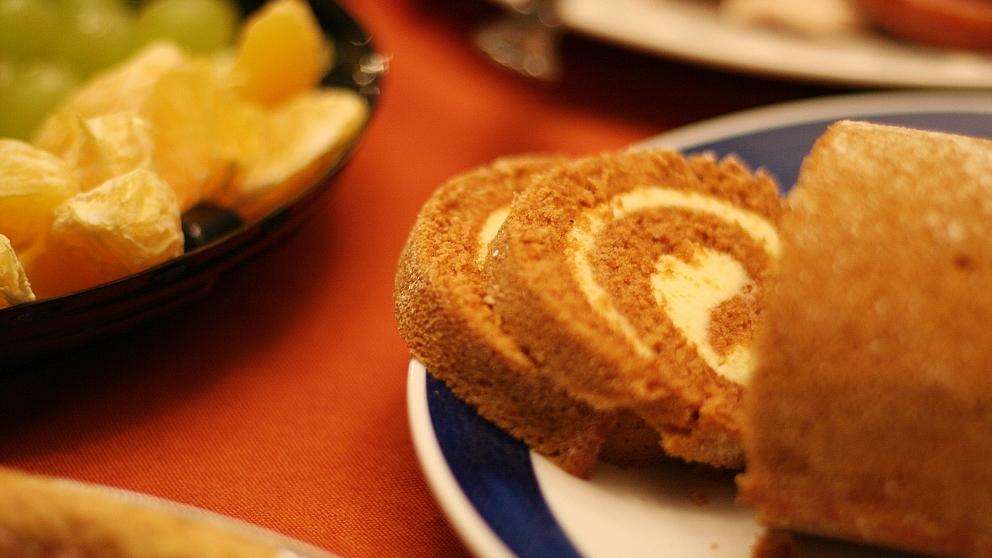 Receta de brazo de gitano de queso crema y calabaza fácil de preparar