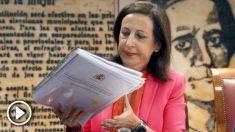Margarita Robles en su comparecencia del Senado