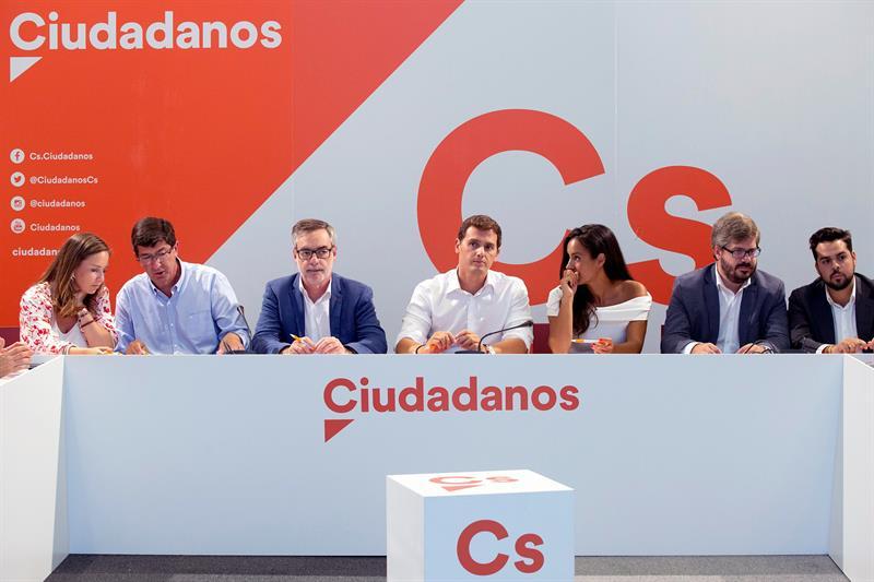 Una reunión del Comité Ejecutivo nacional de Ciudadanos (Foto: EFE).