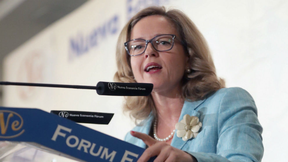 La vicepresidenta de Asuntos Económicos, Nadia Calviño (Foto: Efe/Zipi)