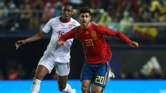 Marco Asensio durante un partido con la selección española. (Getty)