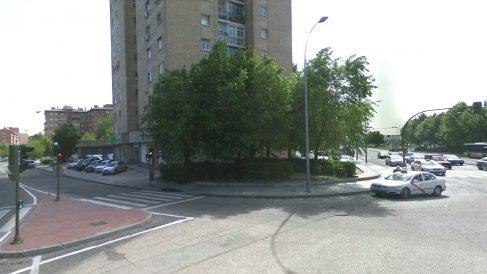 Confluencia de la avenida de los Poblados y la avenida de Abrantes, en Madrid, donde se produjo el suceso.