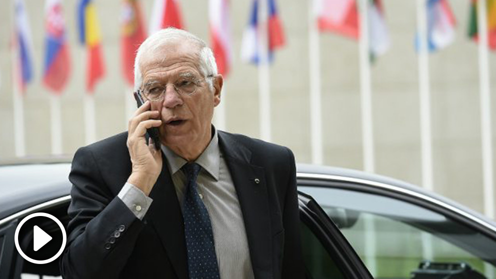 Josep Borrell, ministro de Exteriores, en Bruselas. (Foto: AFP)