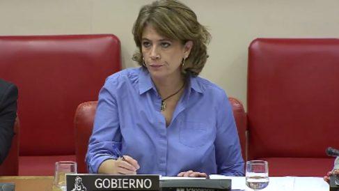Dolores Delgado esta mañana en el Congreso (RRSS).