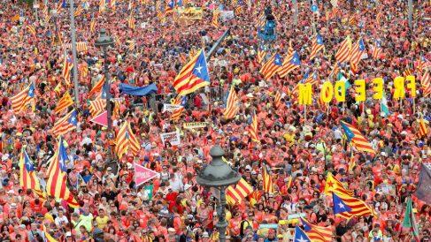 Imagen de una Diada en Barcelona