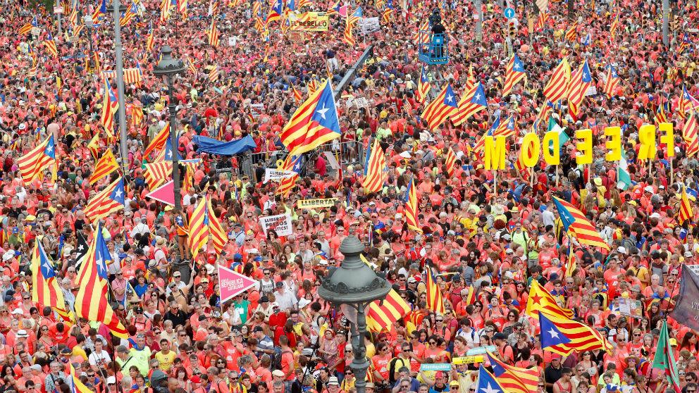 Imagen de una Diada en Barcelona.