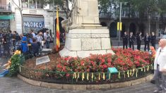 Monumento a Rafael Casanova en la Diada. (Foto: OKDIARIO)