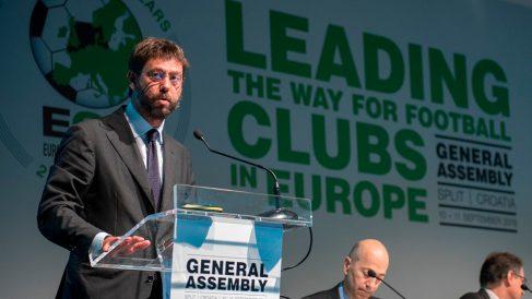 Andrea Agnelli informa sobre la creación de una tercera competición europea. (@ECAEurope)