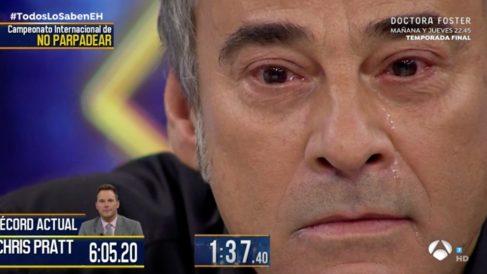 Eduard Fernández y Javier Bardem se han divertido en 'El Hormiguero'. (Foto: Antena 3)
