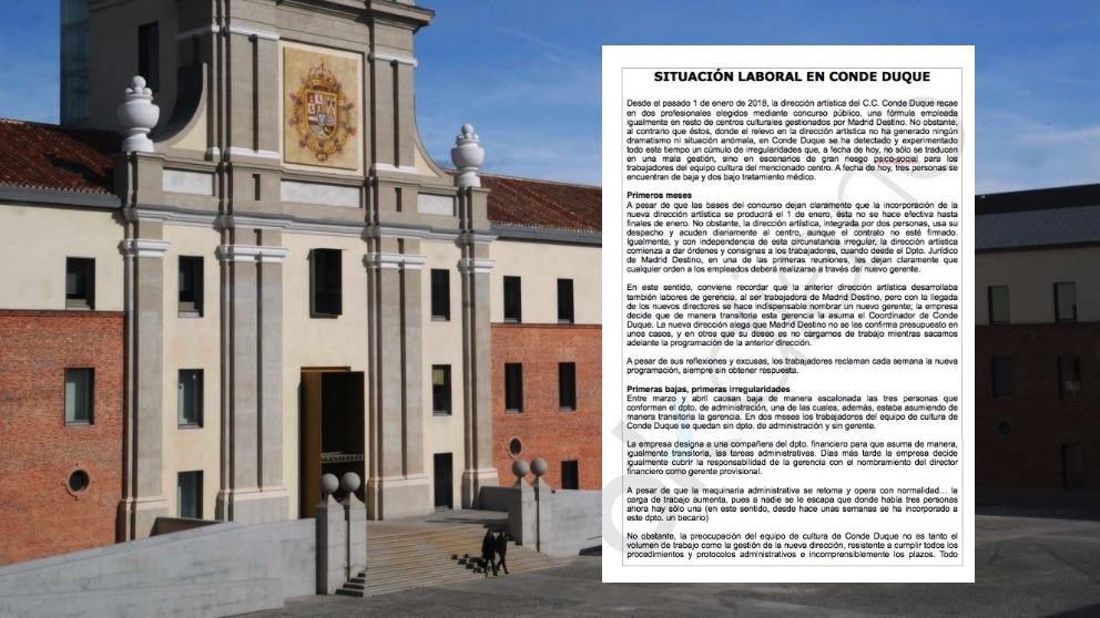 Exterior del centro cultural Conde Duque. (Foto. Madrid)