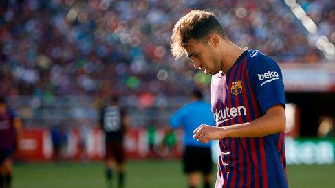 Munir, durante un partido de pretemporada con el Barcelona. (Getty)