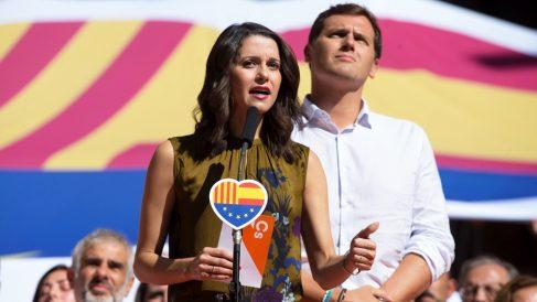 Inés Arrimadas y Albert Rivera. (Foto: EFE)
