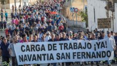 Trabajadores de Navantia en San Fernando (Cádiz)