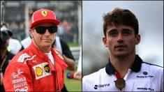 Kimi Raikkonen y Charles Leclerc.