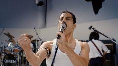 Rami Malek, en el papel de Freddie Mercury, en 'Bohemian Rhapsody', el biopic de Queen. (EP)