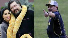 Jorge Hank Rhon y Diego Armando Maradona.