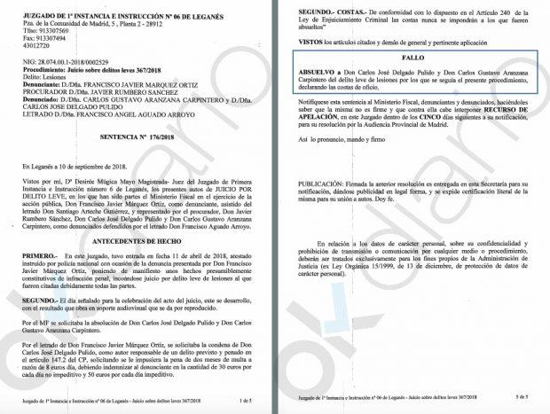 Bofetada judicial al alcalde socialista de Leganés que se inventó una agresión del líder de la oposición