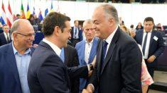 González Pons y Alexis Tsipras en Parlamento Europeo