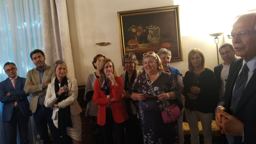 Ramón Tremosa (PDeCAT) en el encuentro con el ministro Josep Borrell con eurodiputados españoles.  (OKD)