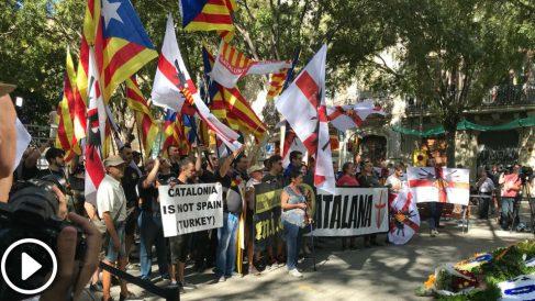 Nazis, ultraderecha europea y proetarras vascos arropan a Torra en la Diada
