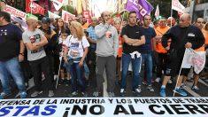 Protesta de trabajadores de Vestas en León