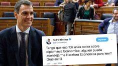 Tweet de Pedro Sánchez sobre su tesis