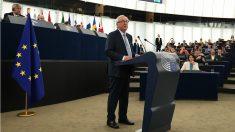 Jean-Claude Juncker, presidente de la Comisión, durante el Debate sobre el estado de la Union, en Estrasburgo. (AFP)