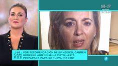 Carmen Borrego ha enseñado su nueva cara en 'Las Campos'.