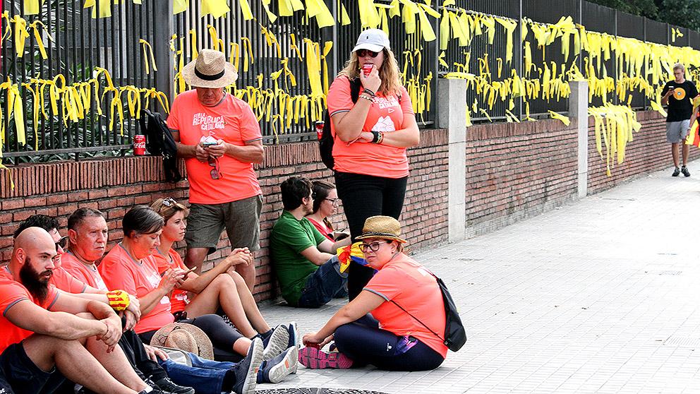 Lazos amarillos en Barcelona. (Foto: E. Falcón)