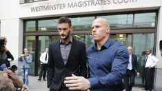 Hugo Lloris, saliendo del Tribunal. (AFP)