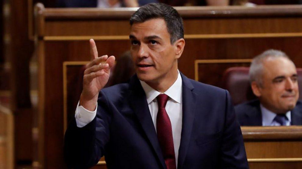 Pedro Sánchez en el Congreso (EFE).